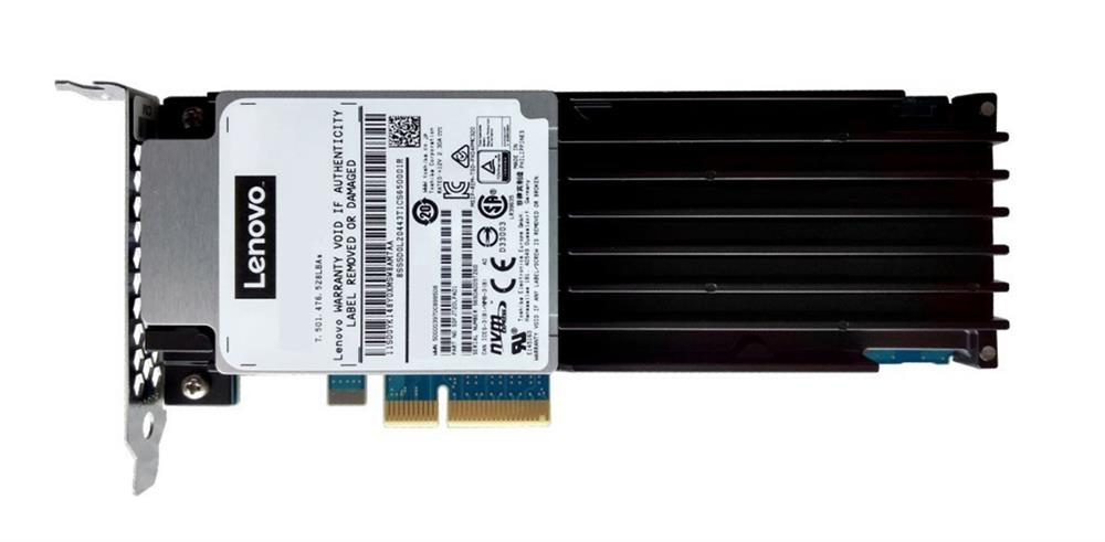 00YK286 Lenovo 1.92TB MLC PCI Express 3.0 x4 NVMe Enterprise Mainstream Add-in Card Solid State Drive (SSD)