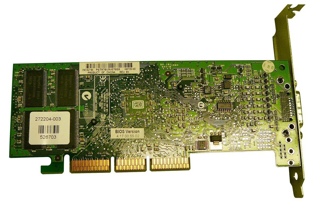 HP Nvidia Quadro-4 200NVS 64MB AGP ATX Dual Monitor Video Card Mfr P/N 319627-001