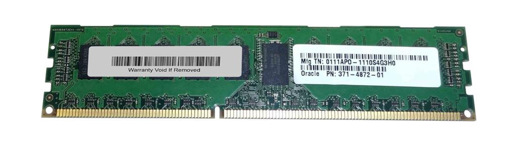 371-4872-01 Sun 4GB PC3-10600 DDR3-1333MHz ECC Registered CL9 240-Pin DIMM 1.35V Low Voltage Dual Rank Memory Module