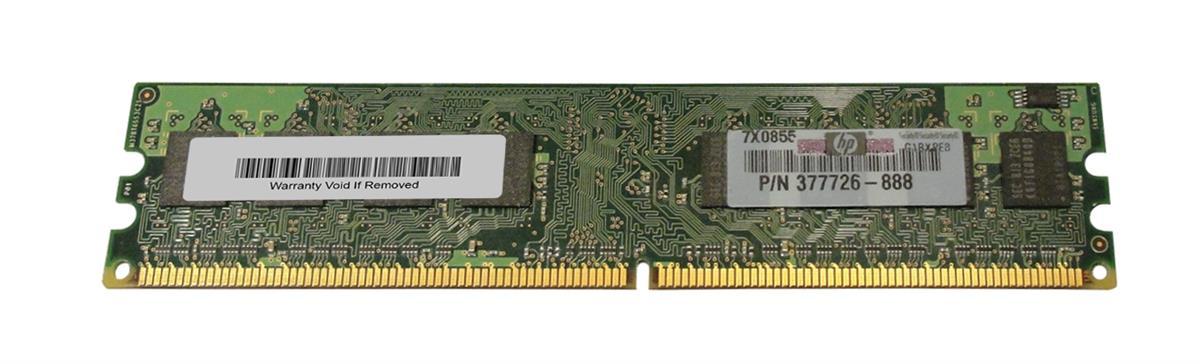 HP 1GB PC2-5300 DDR2-667MHz non-ECC Unbuffered CL5 240-Pin DIMM Memory Module Mfr P/N 377726-888