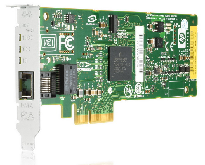 394791-B21 HP Single-Port RJ-45 1Gbps 10Base-T/100Base-TX/1000Base-T Gigabit Ethernet PCI Express x4 Multifunction Server Network Adapter
