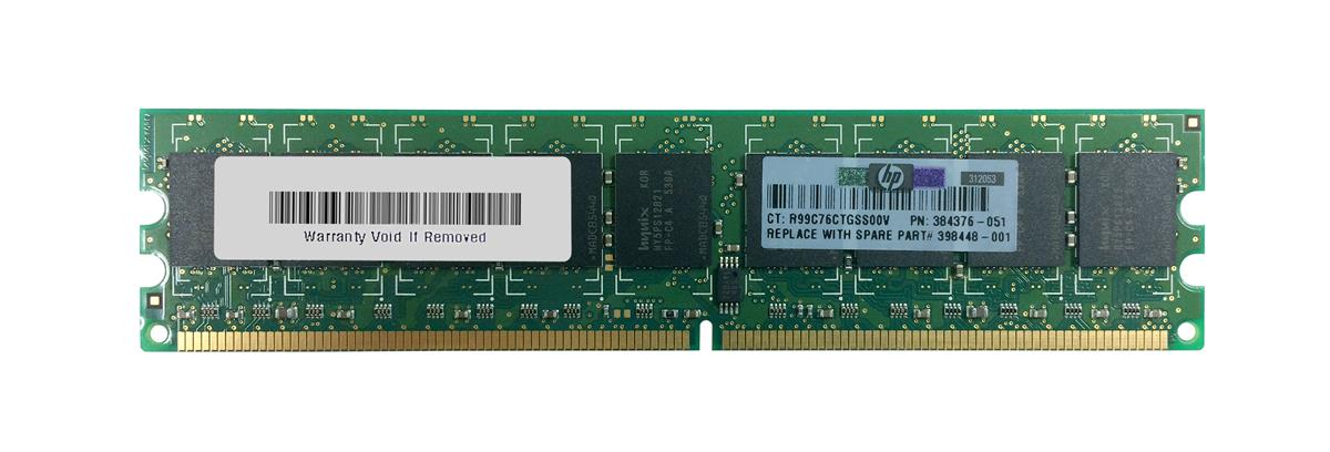 398448-001 HP 1GB PC2-4200 DDR2-533MHz ECC Unbuffered CL4 240-Pin DIMM Memory Module
