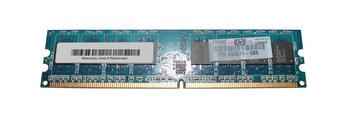 HP 1GB PC2-6400 DDR2-800MHz non-ECC Unbuffered CL6 240-Pin DIMM Memory Module Mfr P/N 404574-888