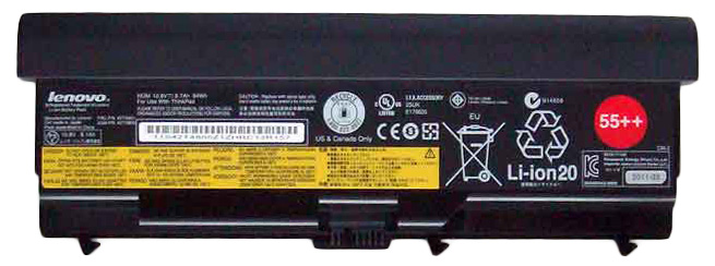 IBM Lenovo 9-Cell Battery 55++ for ThinkPad T410 T510 W510 (Refurbished) Mfr P/N 42T4799