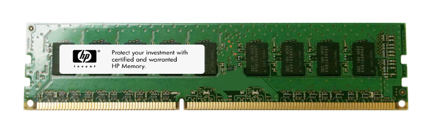500209-161 HP 2GB PC3-10600 DDR3-1333MHz ECC Unbuffered CL9 240-Pin DIMM Dual Rank Memory Module for ProLiant G6 Series Servers