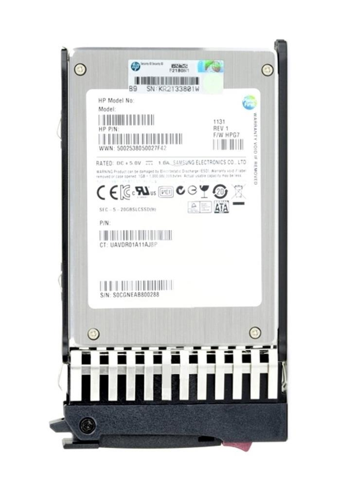636595-B21 HP 200GB MLC SATA 3Gbps Hot Swap Enterprise Mainstream 2.5-inch Internal Solid State Drive (SSD)