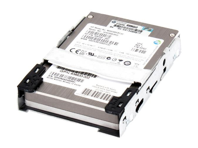 636623-B21 HP 200GB MLC SATA 3Gbps Quick-Release Enterprise Mainstream 2.5-inch Internal Solid State Drive (SSD)