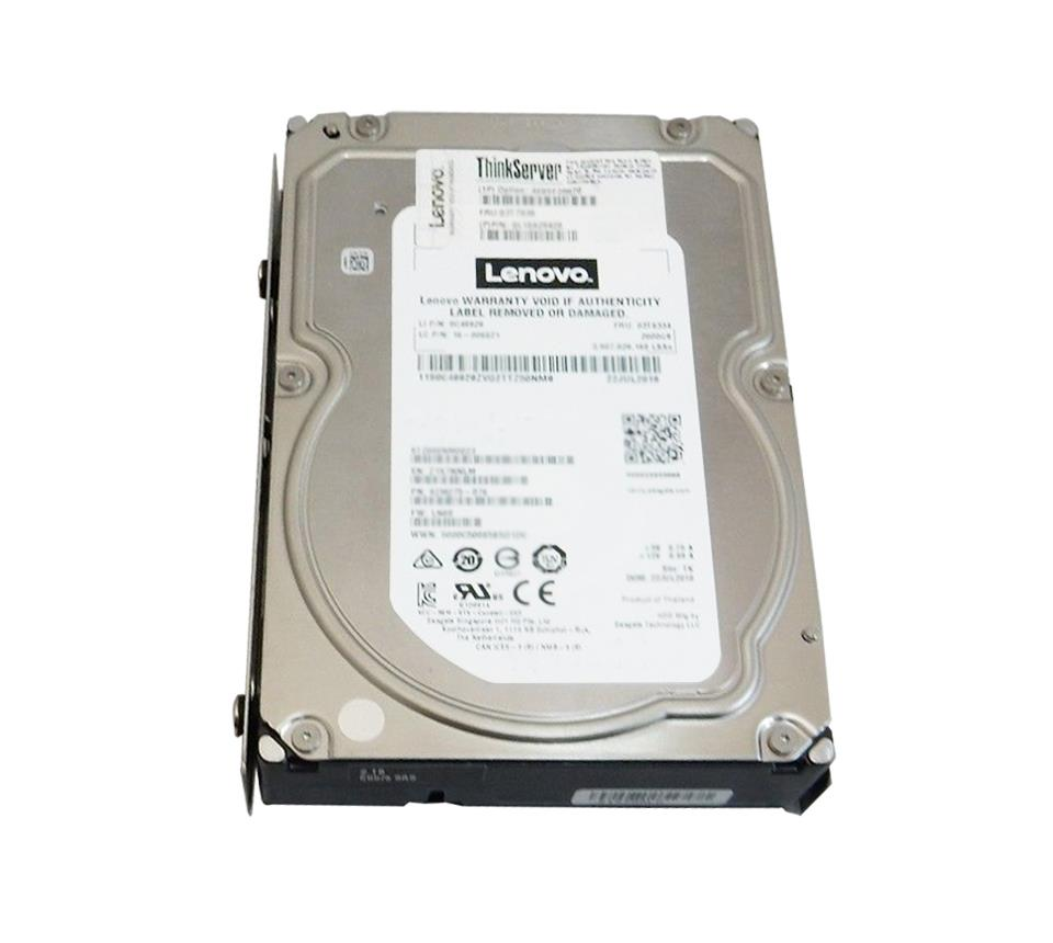 7XB7A00054 Lenovo 10TB 7200RPM SATA 6Gbps Nearline Hot Swap (512e) 3.5-inch Internal Hard Drive for ThinkSystem