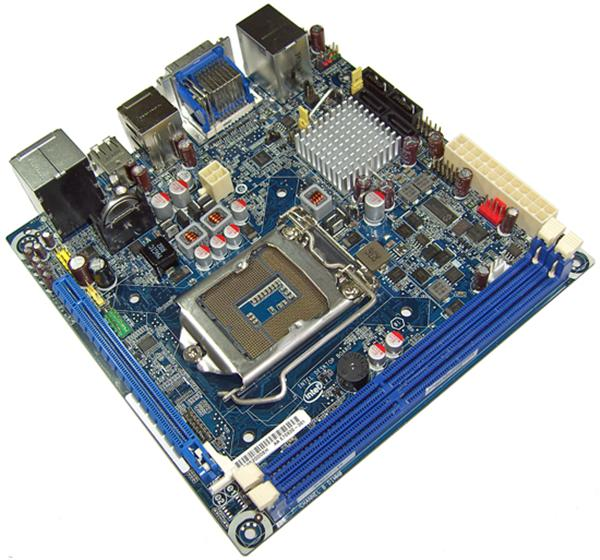 BLKDH57JG Intel Desktop Motherboard Socket H LGA1156 1333MHz FSB DDR3 mini ITX 1 x Processor Support (1 x Single Pack) (Refurbished)