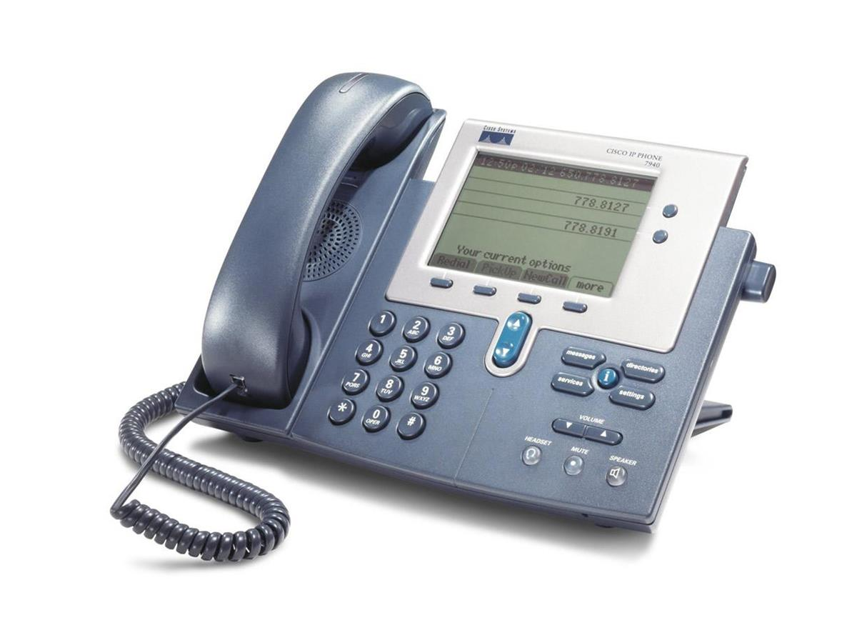 Cisco 7940G Two line Unified IP Phone (Refurbished) Mfr P/N CP-7940G-CCME