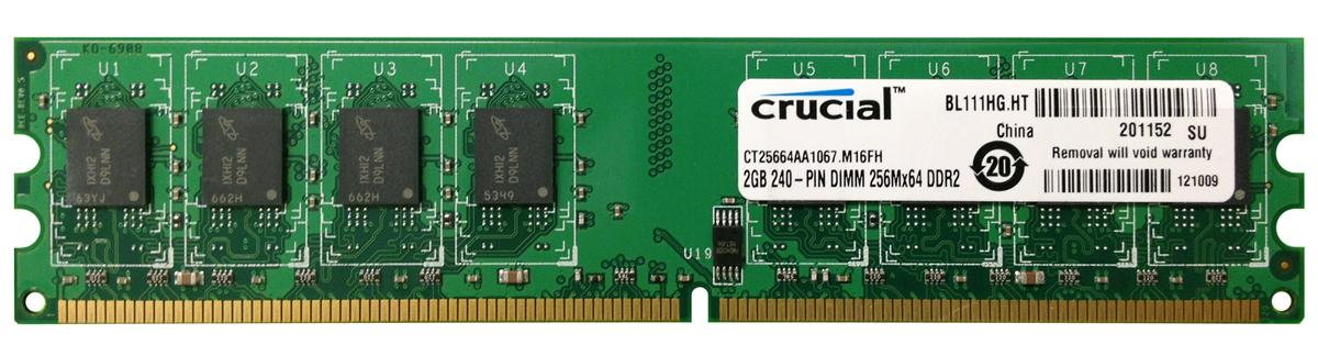 M4L-PC21066D2N7-2G M4L Certified 2GB 1066MHz DDR2 PC2-8500 Non-ECC CL7 240-Pin Dual Rank x8 DIMM