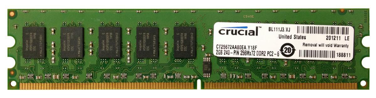 M4L Certified 2GB 800MHz DDR2 PC2-6400 ECC CL5 240-Pin Dual Rank x8 DIMM Mfr P/N M4L-PC2800D2E5-2G