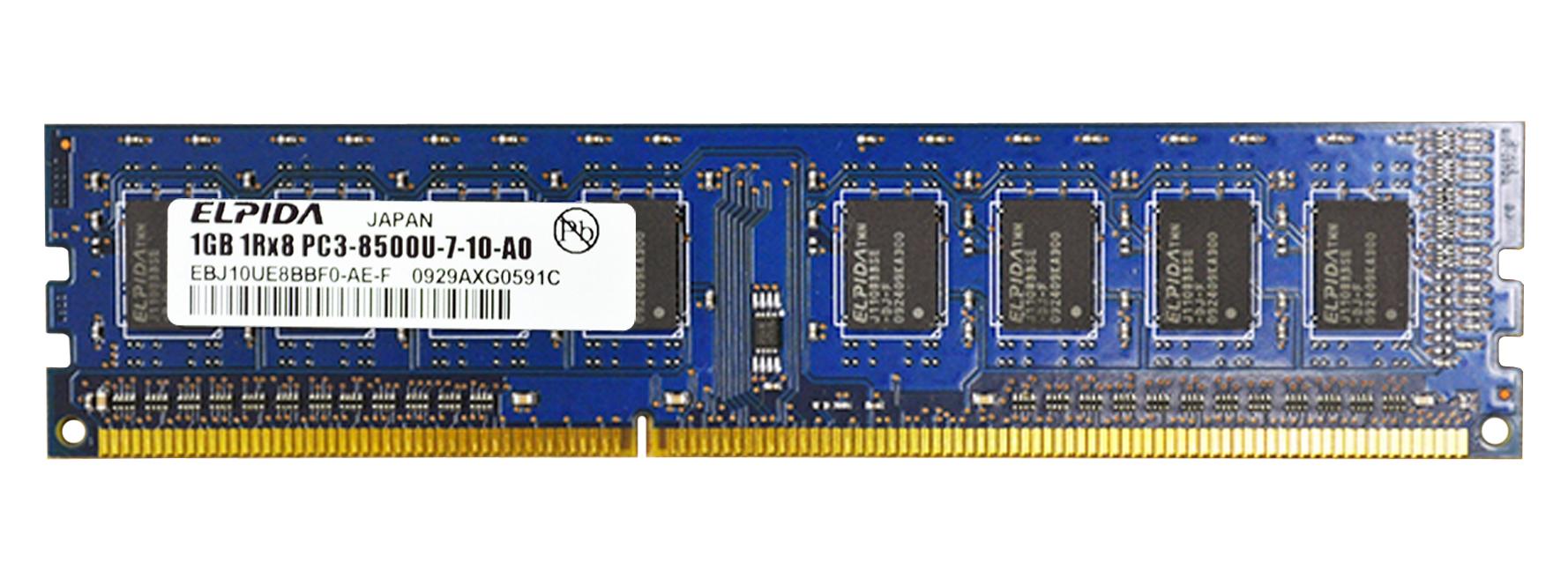 M4L Certified 1GB 1066MHz DDR3 PC3-8500 Non-ECC CL7 240-Pin Dual Rank x8 DIMM Mfr P/N M4L-PC31066D3N7-1G
