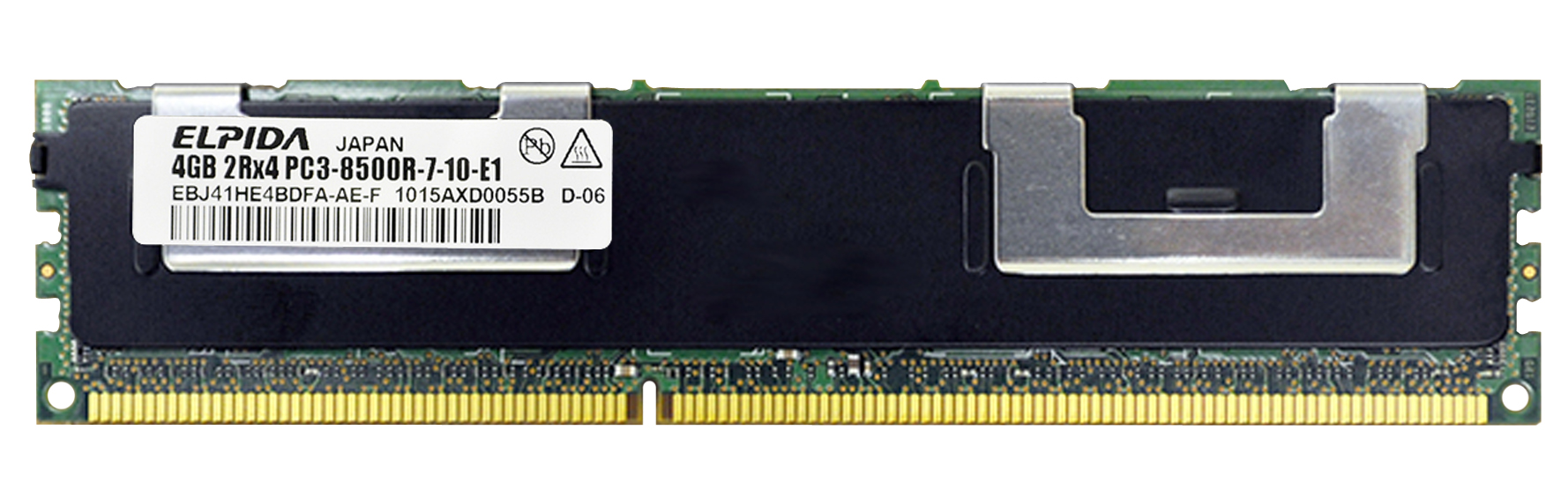 M4L-PC31066RD3D87D-4G M4L Certified 4GB 1066MHz DDR3 PC3-8500 Reg ECC CL7 240-Pin Dual Rank x8 DIMM