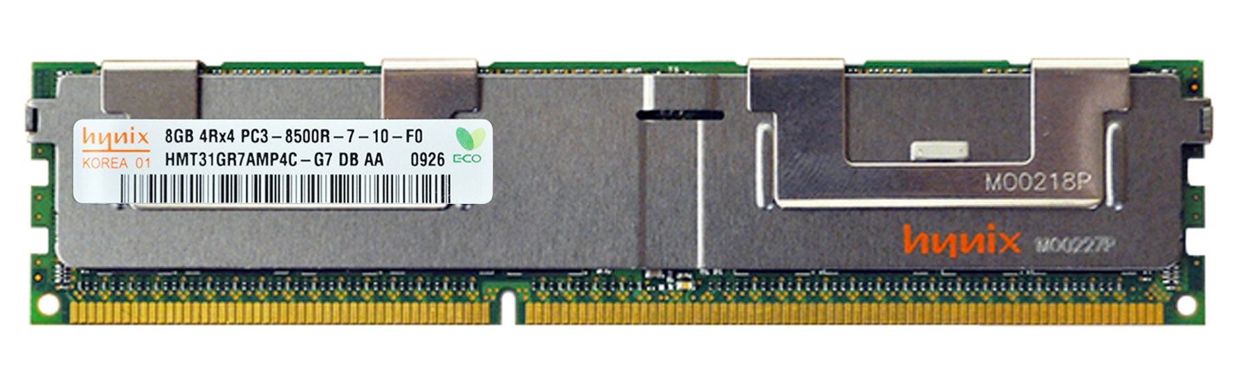 M4L-PC31066D3Q4R7S-8G M4L Certified 8GB 1066MHz DDR3 PC3-8500 Reg ECC CL7 240-Pin Quad Rank x4 DIMM