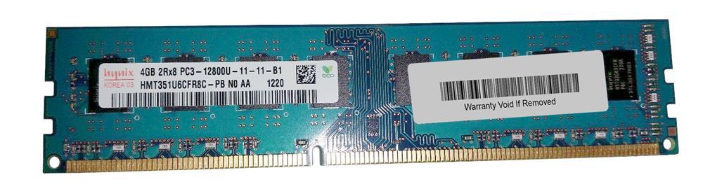 Hynix 4GB PC3-12800 DDR3-1600MHz non-ECC Unbuffered CL11 240-Pin DIMM Dual Rank Memory Module Mfr P/N HMT351U6CFR8C-PB