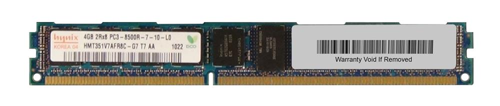 M4L-PC31066RD3D87DV-4G M4L Certified 4GB 1066MHz DDR3 PC3-8500 Reg ECC CL7 240-Pin Dual Rank x8 VLP DIMM
