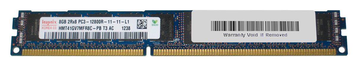 M4L Certified 8GB 1600MHz DDR3 PC3-12800 Reg ECC CL11 240-Pin Dual Rank x8 VLP DIMM Mfr P/N M4L-PC31600RD3D811DV-8G