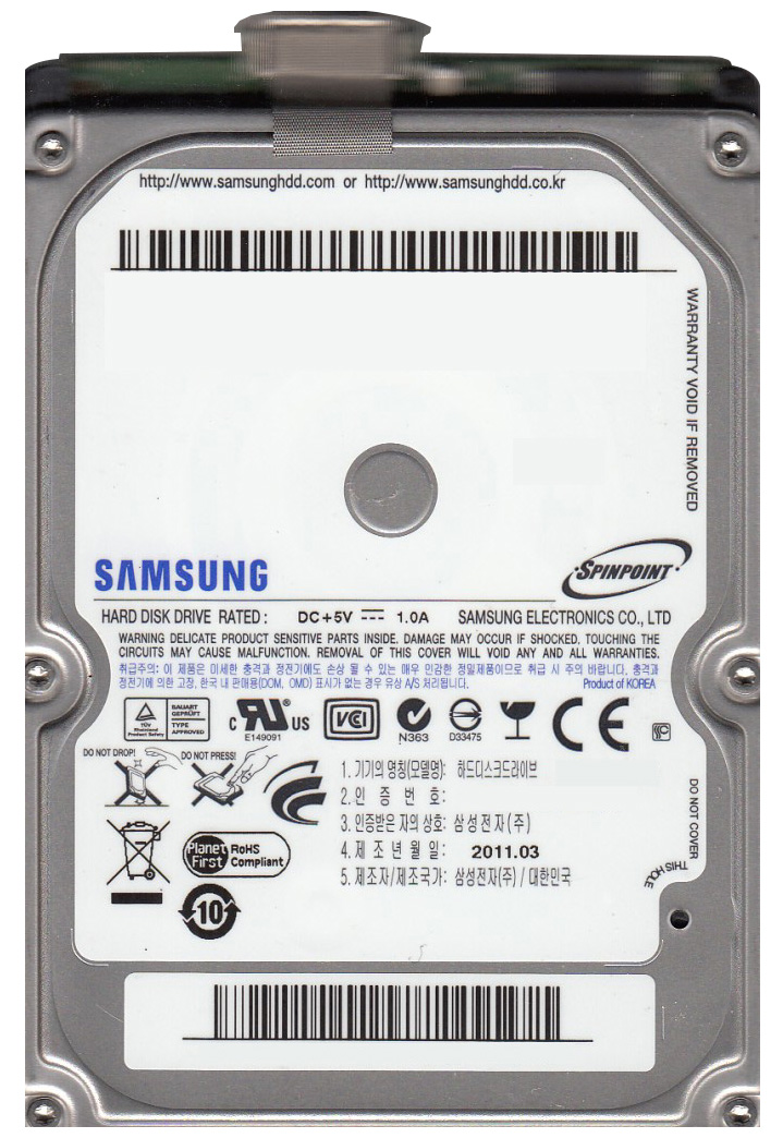 HN-M640ABB Samsung Spinpoint M8U 640GB 5400RPM USB 3.0 8MB Cache 2.5-inch Internal Hard Drive