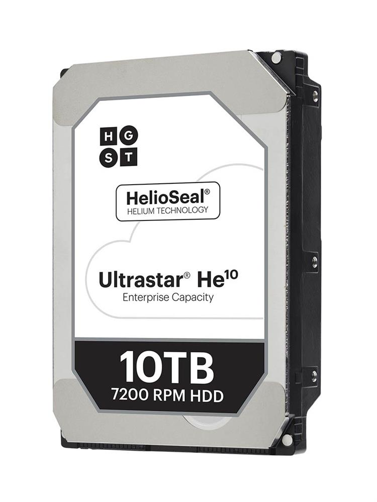 HUH721010ALE601 HGST Hitachi Ultrastar He10 10TB 7200RPM SATA 6Gbps 256MB Cache (SED / 512e) 3.5-inch Internal Hard Drive (Optional Power Disable Pin-3 Model)