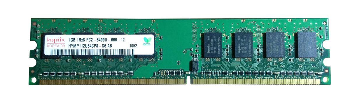 Hynix 1GB PC2-6400 DDR2-800MHz non-ECC Unbuffered CL6 240-Pin DIMM Single Rank Memory Module Mfr P/N HYMP112U64CP8-S6-AB