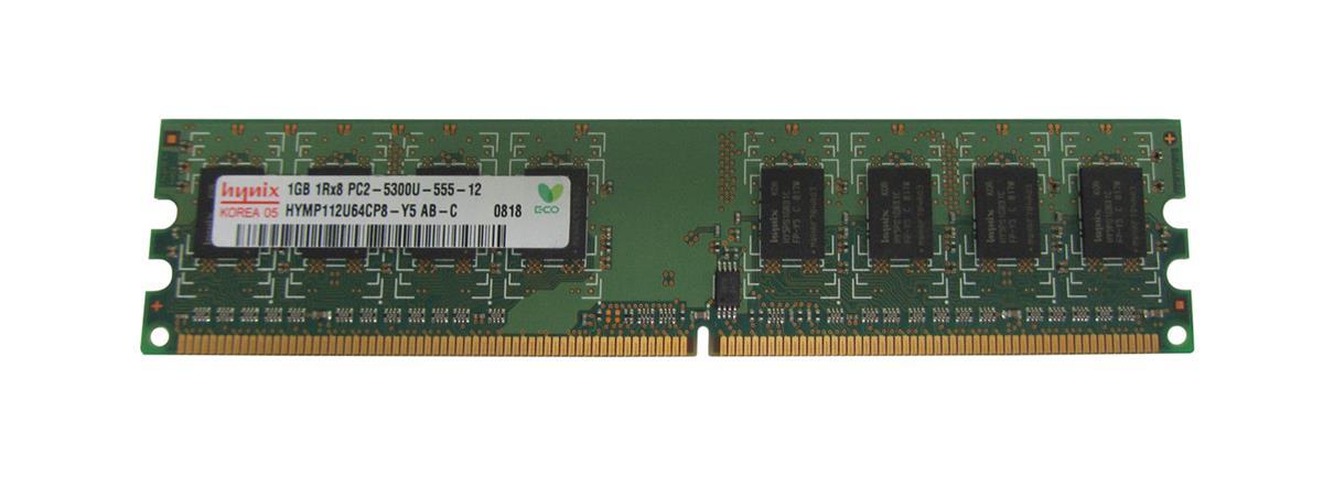 Hynix 1GB PC2-5300 DDR2-667MHz non-ECC Unbuffered CL5 240-Pin DIMM Single Rank Memory Module Mfr P/N HYMP112U64CP8-Y5-AB-C