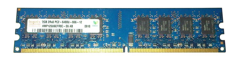 Hynix 2GB PC2-6400 DDR2-800MHz non-ECC Unbuffered CL6 240-Pin DIMM Dual Rank Memory Module Mfr P/N HYMP125U6EFR8C-S6