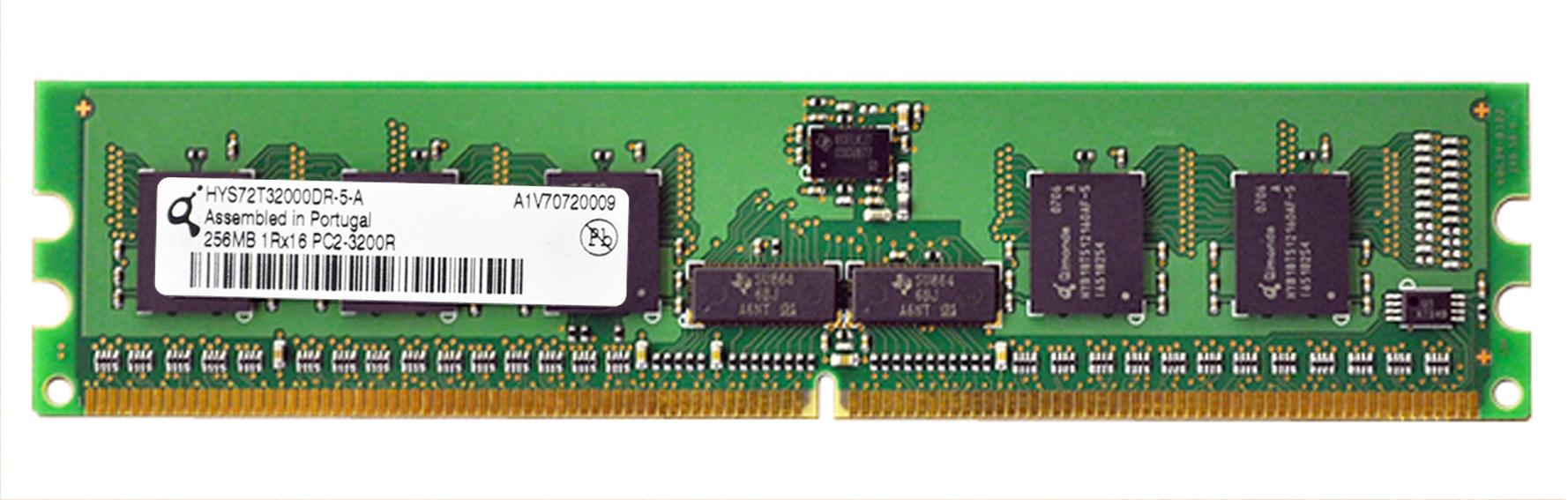M4L Certified 256MB 400MHz DDR2 PC2-3200 Reg ECC CL3 240-Pin Single Rank x16 DIMM Mfr P/N M4L-PC2400RD2S16256M
