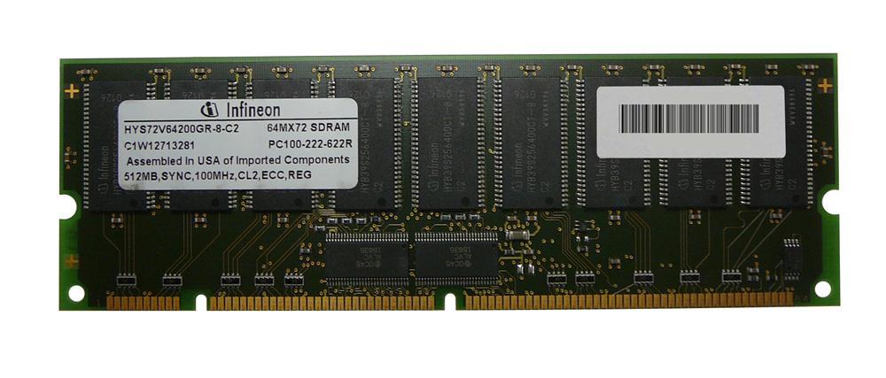 Edge Memory 512MB PC100 100MHz ECC Registered CL2 168-Pin DIMM Memory Module for NETSRVR LXr 8500 Mfr P/N 20L0249PE