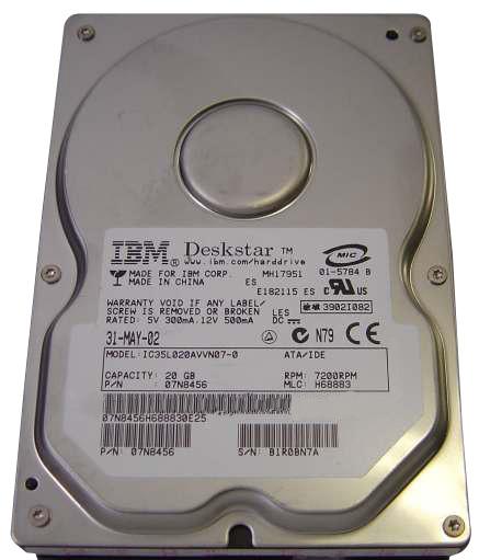IC35L030AVV207-0 IBM Deskstar 30GB ATA/100 Hard Drive