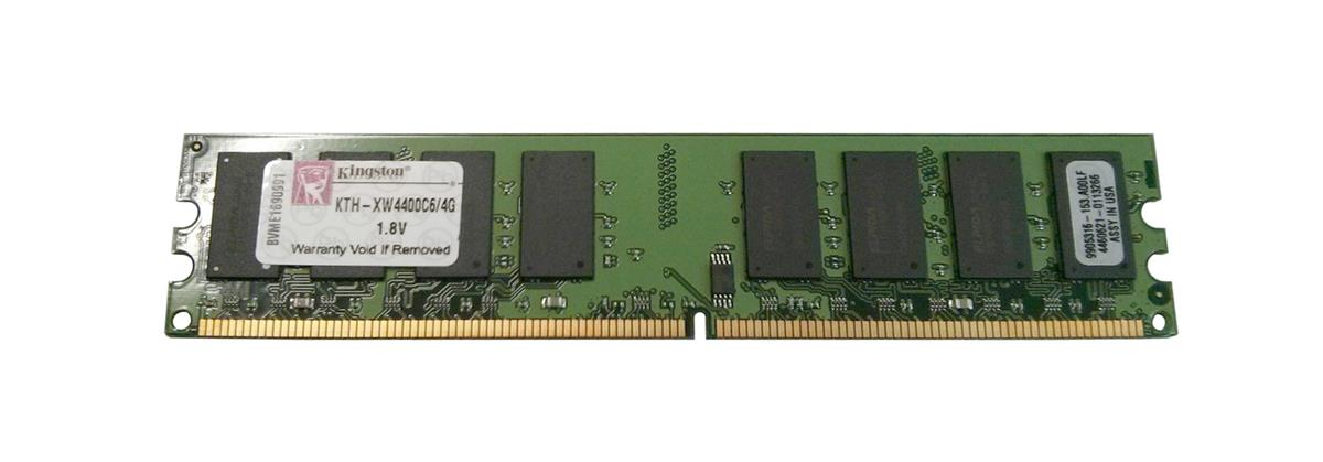 KTH-XW4400C6/4G Kingston 4GB PC2-6400 DDR2-800MHz non-ECC Unbuffered CL6 240-Pin DIMM Memory Module for HP/Compaq FH977AA