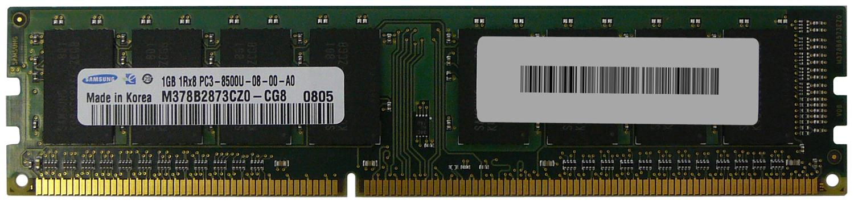 M4L Certified 1GB 1066MHz DDR3 PC3-8500 Non-ECC CL7 240-Pin Single Rank x8 DIMM Mfr P/N M4L-PC31066ND3S87D-1G