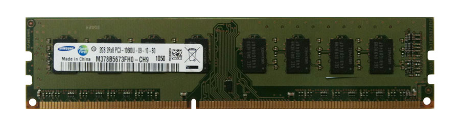 M4L Certified 2GB 1333MHz DDR3 PC3-10600 Non-ECC CL9 240-Pin Dual Rank x8 DIMM Mfr P/N M4L-PC31333D3N9-2G