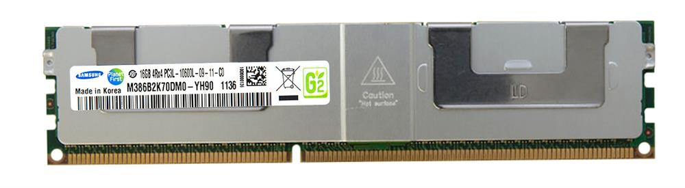 M4L Certified 16GB 1333MHz DDR3 PC3-10600 Reg ECC CL9 240-Pin Quad Rank x4 1.35V Low Voltage LRDIMM Mfr P/N M4L-PC316G3ELSLQ4-16G