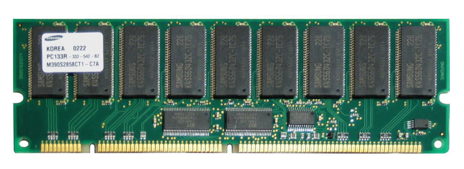 Samsung 1GB PC133 133MHz ECC Registered CL3 3.3V 168-Pin DIMM Memory Module Mfr P/N M390S2858CT1-C7A