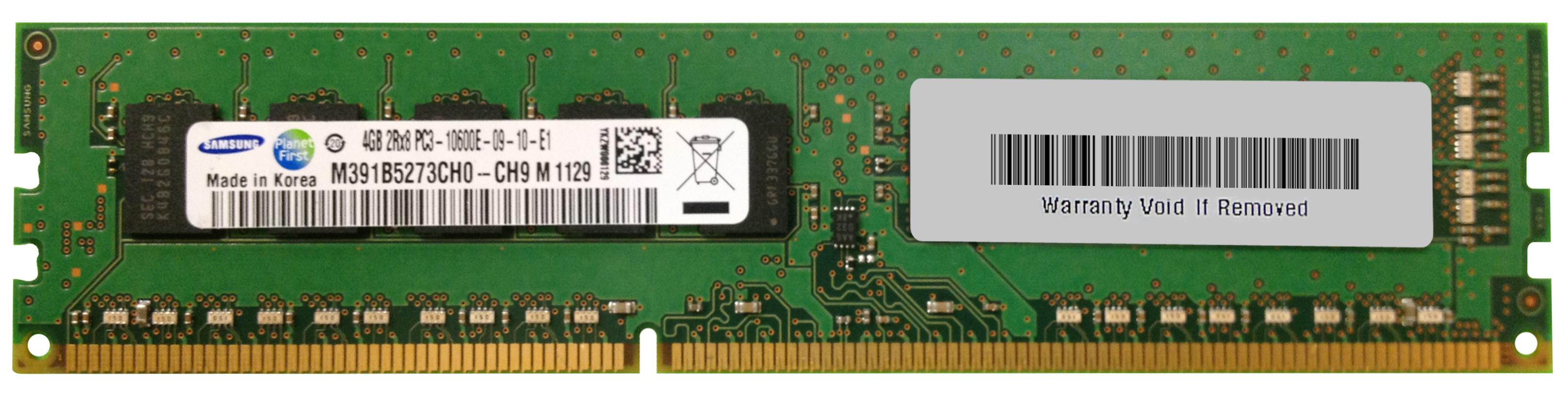 M4L Certified 4GB 1333MHz DDR3 PC3-10600 ECC CL9 240-Pin Dual Rank x8 DIMM Mfr P/N M4L-PC31333D3E9S-4G