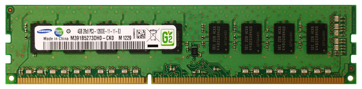 Samsung 4GB PC3-12800 DDR3-1600MHz ECC Unbuffered CL11 240-Pin DIMM Dual Rank Memory Module Mfr P/N M391B5273DH0-CK0