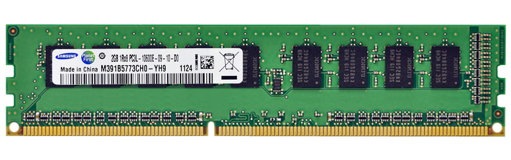 M4L-PC31333ED3S89DL-2G M4L Certified 2GB 1333MHz DDR3 PC3-10600 ECC CL9 240-Pin Single Rank x8 1.35V Low Voltage DIMM