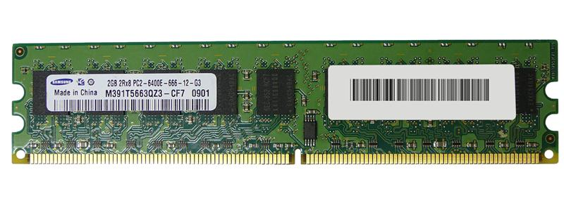M4L Certified 2GB 800MHz DDR2 PC2-6400 ECC CL6 240-Pin Dual Rank x8 DIMM Mfr P/N M4L-PC2800D2E6-2G