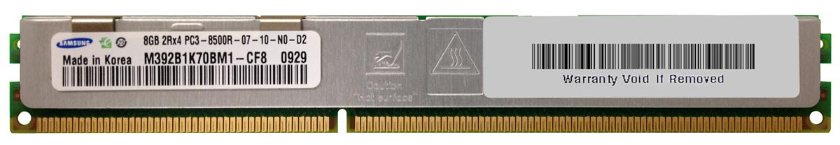M4L-PC31066RD3D47DV-8G M4L Certified 8GB 1066MHz DDR3 PC3-8500 Reg ECC CL7 240-Pin Dual Rank x4 VLP DIMM