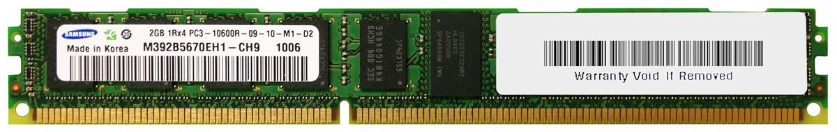 M4L-PC31333RD3S49DV-2G M4L Certified 2GB 1333MHz DDR3 PC3-10600 Reg ECC CL9 240-Pin Single Rank x4 VLP DIMM