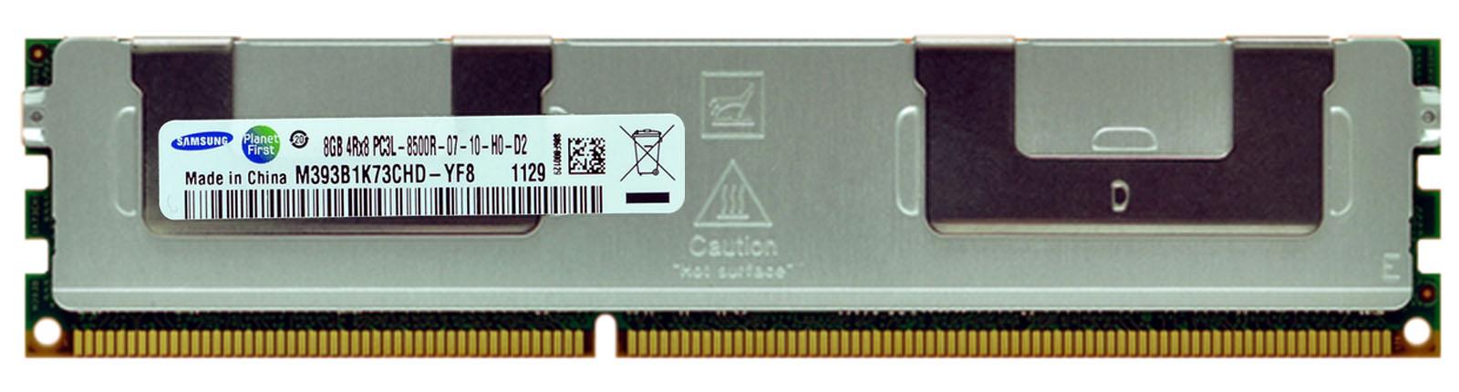 M4L Certified 8GB 1066MHz DDR3 PC3-8500 Reg ECC CL7 240-Pin Quad Rank x8 1.35V Low Voltage DIMM Mfr P/N M4L-PC31066RD3Q87DL-8G