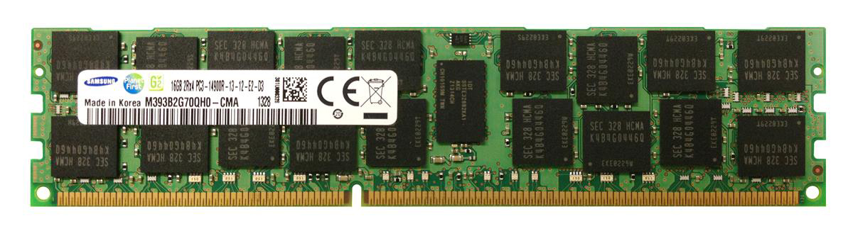 M393B2G70QH0-CMA Samsung 16GB PC3-14900 DDR3-1866MHz ECC Registered CL13 240-Pin DIMM Dual Rank Memory Module
