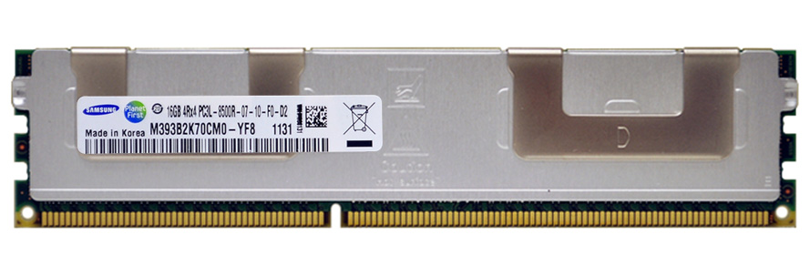 M4L-PC31066RD3Q47DL-16G M4L Certified 16GB 1066MHz DDR3 PC3-8500 Reg ECC CL7 240-Pin Quad Rank x4 1.35V Low Voltage DIMM