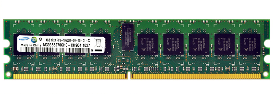 M4L Certified 4GB 1333MHz DDR3 PC3-10600 Reg ECC CL9 240-Pin Single Rank x4 DIMM Mfr P/N M4L-PC31333D3S4R9S-4G