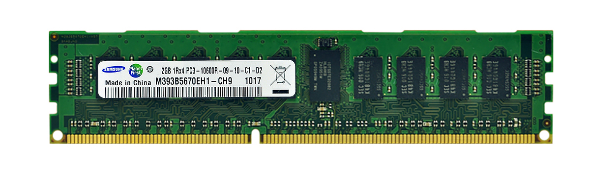 M4L-PC31333D3S4R9S-2G M4L Certified 2GB 1333MHz DDR3 PC3-10600 Reg ECC CL9 240-Pin Single Rank x4 DIMM