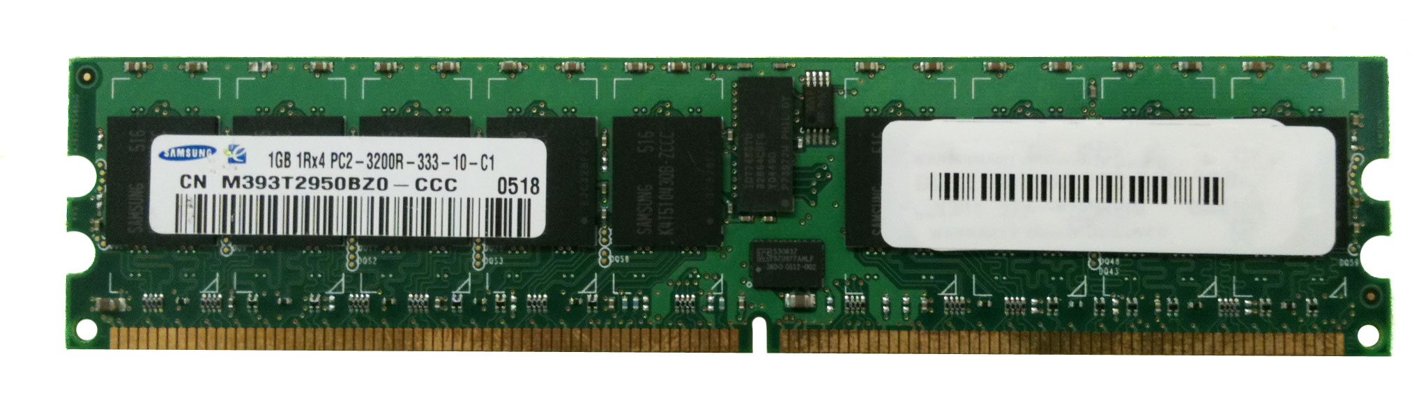 M4L-PC2400D2S4R3-1G M4L Certified 1GB 400MHz DDR2 PC2-3200 Reg ECC CL3 240-Pin Single Rank x4 DIMM