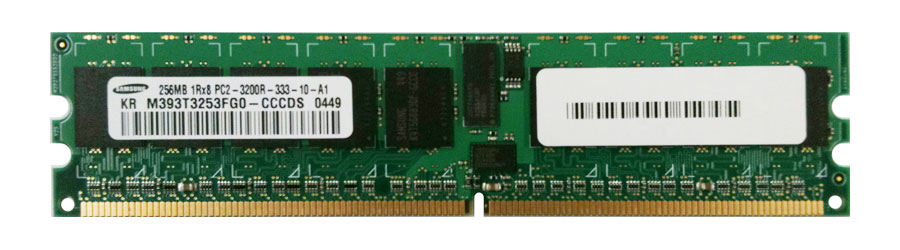 M4L-PC2400D2R3-256 M4L Certified 256MB 400MHz DDR2 PC2-3200 Reg ECC CL3 240-Pin Single Rank x8 DIMM