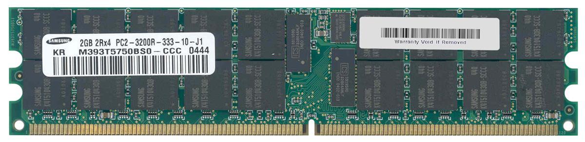 M4L Certified 2GB 400MHz DDR2 PC2-3200 Reg ECC CL3 240-Pin Dual Rank x4 DIMM Mfr P/N M4L-PC2400D2D4R3-2G