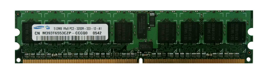 M4L-PC2400D2S8R3-512 M4L Certified 512MB 400MHz DDR2 PC2-3200 Reg ECC CL3 240-Pin Single Rank x8 DIMM